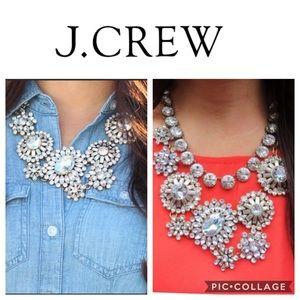 J Crew Floral Sunburst Statement Necklace
